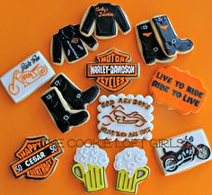 Harley Davidson birthday cookies!