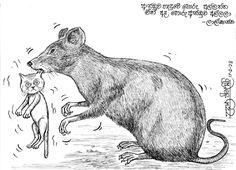 මහින්දට තාප්පෙ උඩින් මඩ බාල්දියක් (අඟහ කාටූන්) | Gossip Lanka News