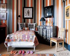 Contrasting striped wall