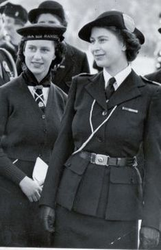 Princesses Elizabeth and Margaret pictured at a rally of Girl Guides in Hyde Park. The Queen and her younger sister joined the movement as a Girl Guide and Brownie respectively in 1937. The Queen's Guide Award, established in 1946, is the highest award a Guide can receive.