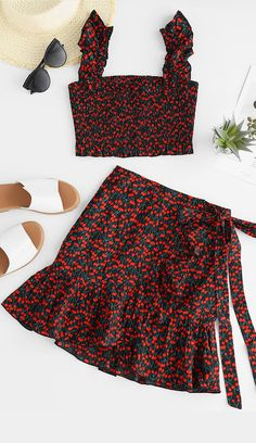 Hot Two pieces outfits for Summer Tween Fashion, Teen Fashion Outfits, Outfits For Teens, Girl Fashion, Cute Outfits, Casual Plus Size Outfits, Simple Summer Outfits, Dressed To Kill, Two Piece Outfit