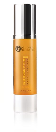 Global Keratin Hair Smoothing Serum - tames the frizzies and smells amazing!