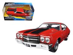 Dom's Chevrolet Chevelle SS Red Fast & Furious Movie 1/24 by Jada #JadaToys #Chevrolet
