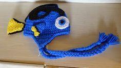 mnopxs2 the blog: Crochet Blue Tang Hat disney Pixar finding nemo dory hat