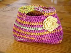 Handbag Crochet Pattern Easy Peasy Little Kids por bubnutPatterns