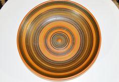 Alvino Bagni Vintage Ringe Ocker Bowl  Mitte von DenModernShop