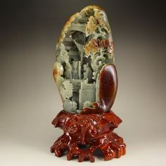 Chinese Hetian Jade Statue - Sage Meeting
