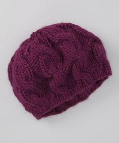 Take a look at this Grape Mingle Beret by Chaos on @zulily today!