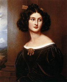 Nanette Heine, née Kaula  1829  Oil on canvas  Schloss Nymphenburg, Munich