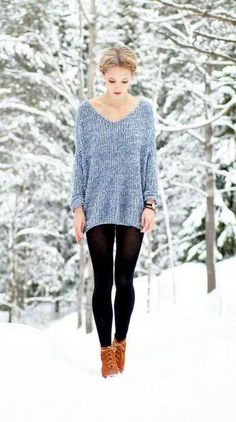 27 Stylish Women Sweaters Outfit for Cold Winter - Ready To Meal Mode Outfits, Stylish Outfits, School Outfits, Grunge Outfits, Stylish Clothes, Fall Winter Outfits, Autumn Winter Fashion, Summer Outfits, Winter Style