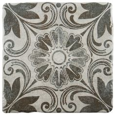 Inspired by artisan cement tiles, the Forties vintage is a beautiful option for a variety of decors. An old-world pattern in inky gray is set on a white background and accented with a medium sheen glaze. This tile is great to pair with many products in the Forties series.