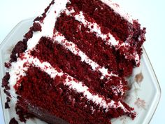 This is the red velvet cake I was telling you about that I won a blue ribbon for at this year's state fair.  It not only won a blue ribbon for the red velvet cake class, but won second best of all ...