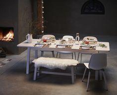 NORRAKER collectie | #IKEA #IKEAnl #kerst #inspiratie #woonkamer #eettafel