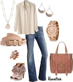 """Rose Gold"" by hosefish on Polyvore"