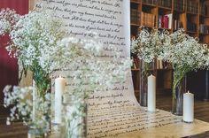 """55 отметок «Нравится», 2 комментариев — Студия декора и флористики (@perlamutrstudio) в Instagram: «Выездная регистрация """"Письмо о любви""""  Свечи в стеклянных колбах, нежные облака гипсофилы делают её…»"""