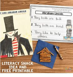 We;re talking President's this week, so this week's Literacy Snack Idea is all about Abraham Lincoln. This week we're reading one of my favorite kids books about Abraham Lincoln c…