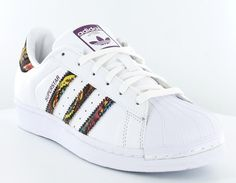 timeless design ccaa6 792b2 Adidas superstar x the farm company blanc print multicolor