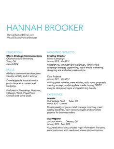 simple resume design idea
