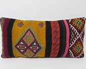kilim pillow throw pillow cover lumbar pillow sofa pillow cover retro throw pillow handmade cushion cover bohemian floor pillow cover 26053