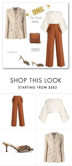 """""""Brown"""" by bv-b ❤ liked on Polyvore featuring Muveil, STELLA McCARTNEY, Gucci, Polo Ralph Lauren and Anja"""