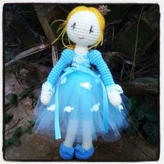 Cinderella amigurumi art doll