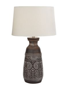 Intricate Terracotta Table Lamp from Cottage Getaway: Accents on Gilt