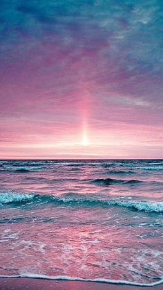Beautiful pink & purple sunset: