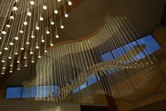 Rhythm and Blues II 2014  Wiltshire Music Centre, Bradford Upon Avon  Mixed media (optical fibre, bespoke joinery, anodised steel, light source)