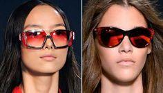 Gafas rojas Prabal Gurung y Just Cavalli Moda gafas de sol 2013: Las gafas de sol rojas son tendencia