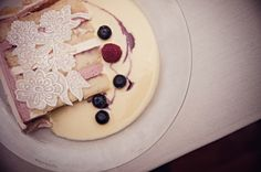 Vanilla Bean Cake paired with Raspberry and White Chocolate Mousseline #sugarrealm