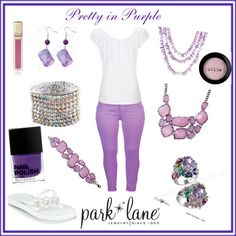 Pretty in Purple, created by parklanejewelry on Polyvore    Park Lane Jewelry featured: Wisteria necklace & bracelet, Lilac necklace, Orchid earrings, Dreamy bracelet, & Fairy Tale ring www.jewelsbyparklane.com/rmartinez