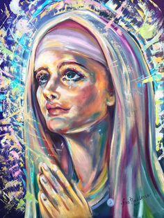 Saint Clare of Assisi by Nino Ponditerra Rembrandt, Inspirer Les Gens, Original Paintings, Original Art, Oil Paintings, Clare Of Assisi, Sainte Claire, Oil On Canvas, Canvas Art