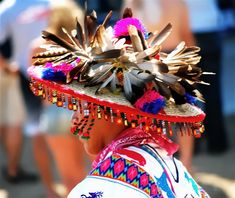 Huichol headdress, Nayarit, Mexico.
