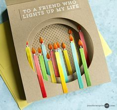 Very good tutorials on shadow box and tunnel cards Unique Birthday Cards, Handmade Birthday Cards, Birthday Humorous, Birthday Sayings, Birthday Images, Fancy Fold Cards, Folded Cards, Jennifer Mcguire Ink, Card Making Templates