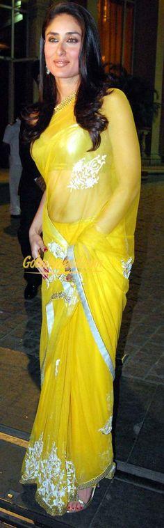 Do no:1003 kareena kapoor in yellow  sarees. mob no:+919909218530