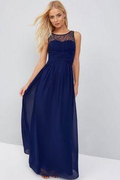 0c2c9cc5ef Little Mistress Navy Embellished Maxi Dress