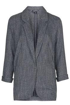 Herringbone Boyfriend Jacket - Topshop