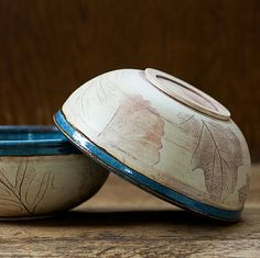 Rustic Woodland Blue Soup bowl-Cereal bowl