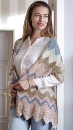 Hæklet tørklæde i siksakmønster | Hæklet i forårs-pasteller | Gratisk hækle- og strikkeopskrifter på skønne sager til dig, manden eller de mindste | Håndarbejde