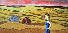 Life on the American Plains https://www.etsy.com/listing/553921218/original-acrylic-painting-life-on-the  I can see the fields sprawl over the landscape to the curvature of the earth. A horizon so distant it seems impossible to reach. Yet, the winds from that distance cause my ears to twitch when the silence turns to a roar of wheat rustling from miles around. Somewhere is a world of people, parties, and extravagance. Here, the only thing is the self, solitude, and simplicity.   See my work…
