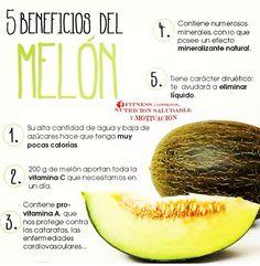 Las frutas tienen muchos beneficios y el melón no es la excepción