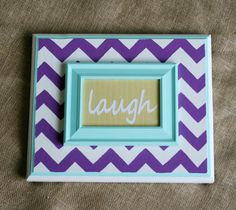 Chevron Plaque with 'Laugh' Customizable Word by theZstore on Etsy, $24.00