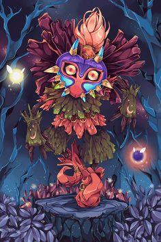 The Legend Of Zelda, Legend Of Zelda Poster, Legend Of Zelda Tattoos, Deviantart, Majora Mask, Princesa Zelda, Kids Poster, Poster Ideas, Masks Art