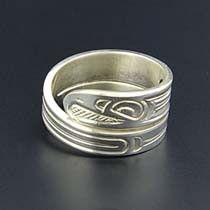 Norhtwest Coast Native Wrap Ring - Silver Aboriginal Art. $90.00, via Etsy.