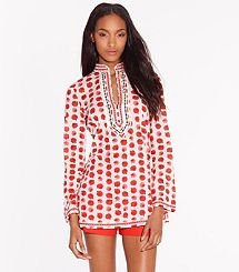 TORY TUNIC | TAPIOCA HEDGEHOG from Tory Burch at 150 WORTH.