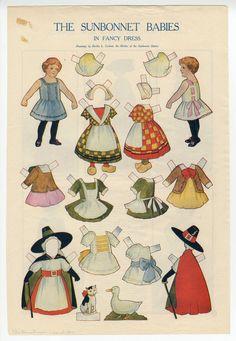 The Sunbonnet Babies in Fancy Dress by Bertha L Corbett, The Housekeeper magazine, March 1910