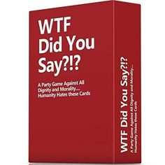 WTF Did You Say A... is now available at our store.  Check it out:  http://brishan.com/products/wtf-did-you-say-a-party-game-against-all-dignity-and-morality-full-game-xl-set-of-594-cards?utm_campaign=social_autopilot&utm_source=pin&utm_medium=pin