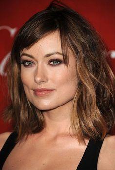 shoulder-length hair   bangs