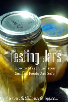 My Jars Sealed? Is My Canned Food Safe? Testing Jar Seals And Reprocessing Jars. How to make sure you are canning safely!Testing Jar Seals And Reprocessing Jars. How to make sure you are canning safely! Canning Pickles, Canning Tips, Home Canning, Canning Recipes, Canning Food Preservation, Preserving Food, Canning Vegetables, Canned Food Storage, Pressure Canning