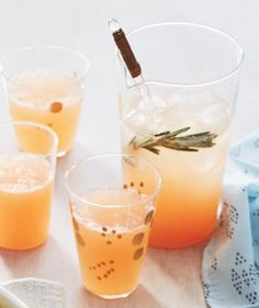 Rosemary Grapefruit Spritzer | If you host anything between Thanksgiving and New Year's, make it this pretty, please-all brunch, much of which you can take care of days before (good morning to you).
